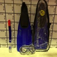 Набор для подводного плавания Ласты, маска, трубка размер М(40-42) 5835/3М