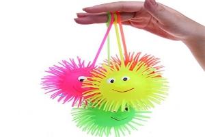 Резиновые мячи, мялки, ее на резинке