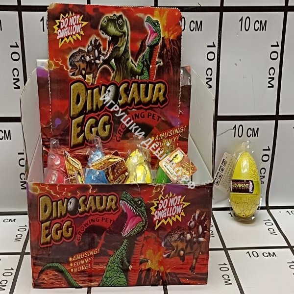 Яйцо динозавра 12 шт в блоке 27841