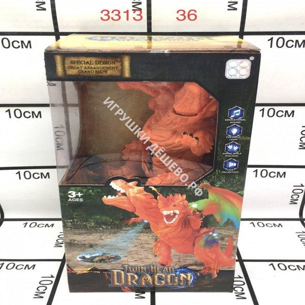 3313 Динозавр со световой проекцией (свет, звук, движение), 36 шт. в кор. 3313