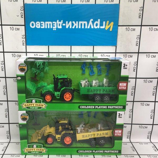 Трактор с животными Счастливая ферма, 30 шт. в кор. 925-78  925-78