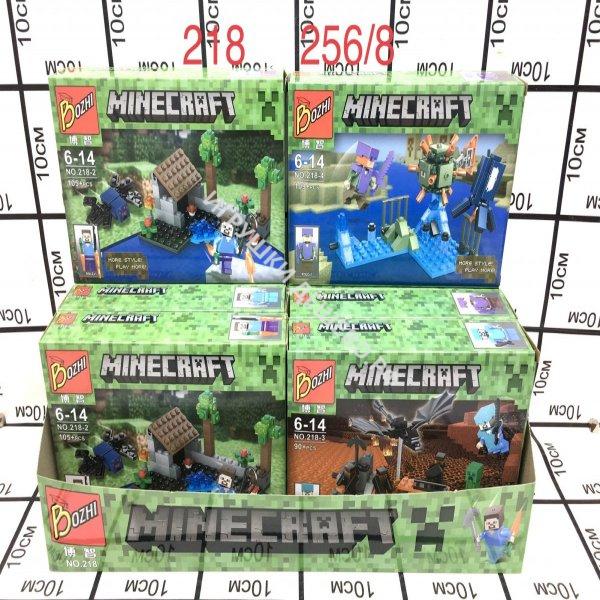 218 Конструктор Герои из кубиков 8 шт. в блоке, 256 шт. в кор. 218
