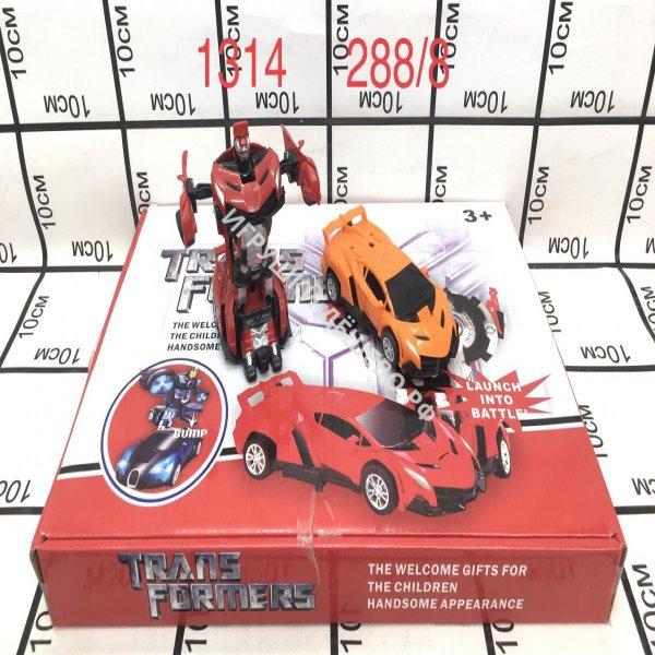 1314 Машинки-Трансформер  8 шт в блоке 288 шт в кор. 1314