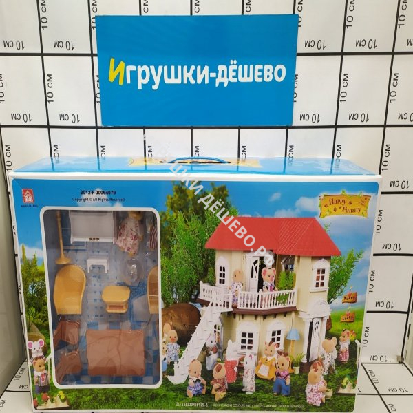 Счастливая семья Дом с мебелью, 6 шт. в кор. 012-01  012-01