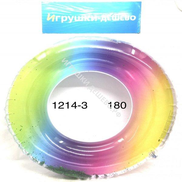 1214-3 Надувной круг для плавания, 180 шт. в кор. 1214-3