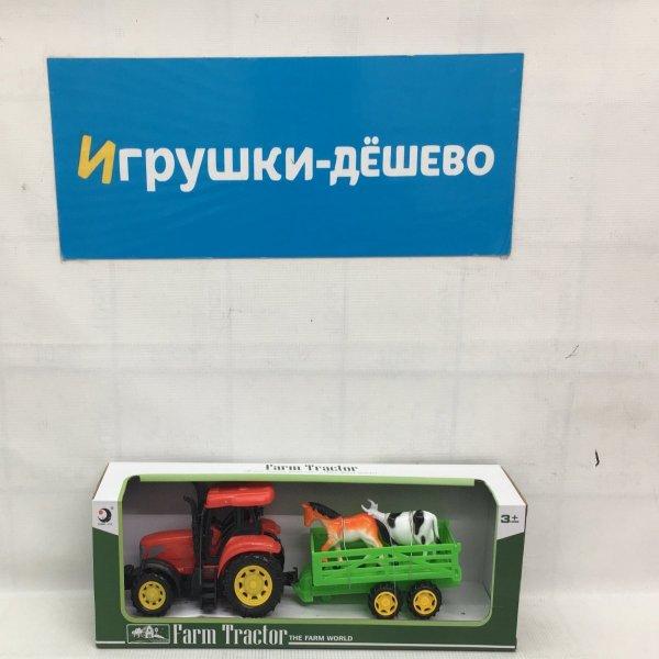 Трактор с прицепом 48 шт в кор. 1601-5B 1601-5B