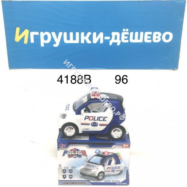 4188B Машинка Полиция на батарейках свет звук 96 шт в кор. 4188B