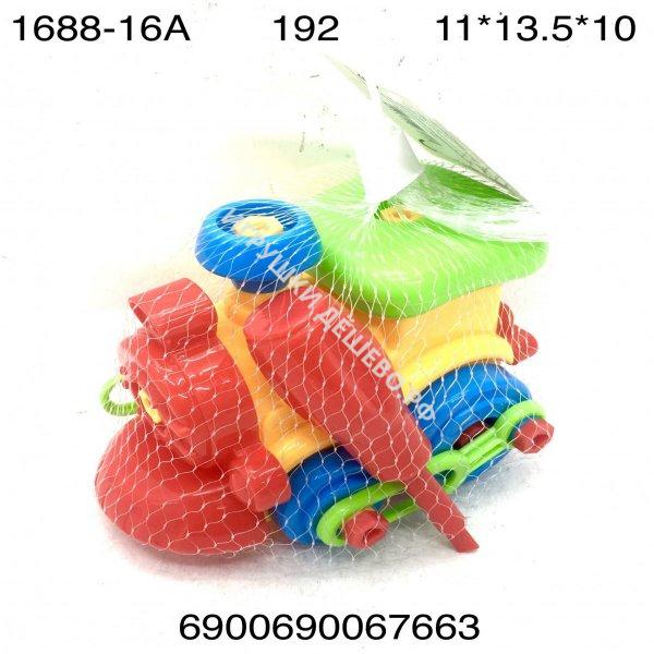 1688-16A Паровозик в сетке конструктор для малышей, 192 шт. в кор. 1688-16A