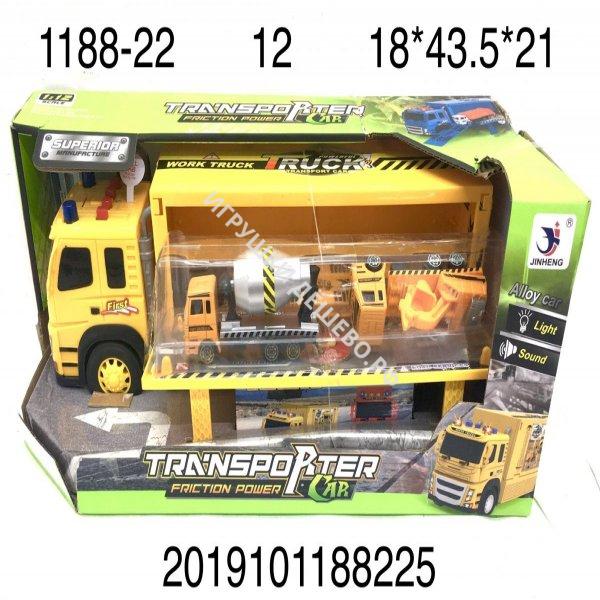 1188-22 Рабочая машина+ машинки (свет, звук), 12 шт. в кор.  1188-22