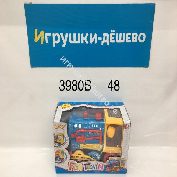 3980B Паровозик на батарейках свет звук 48 шт в кор. 3980B