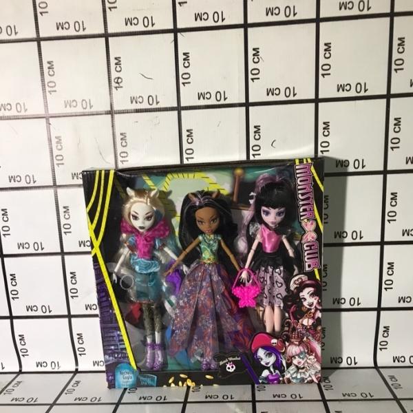 Куклы Монстр 3 шт в кор. 1117A