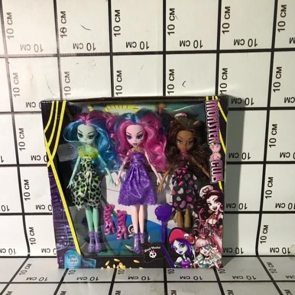 Куклы Монстр 3 шт в кор. 1117E