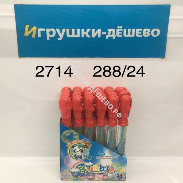 2714 Мыльные пузыри Паук 24 шт. в блоке, 288 шт. в кор. 2714