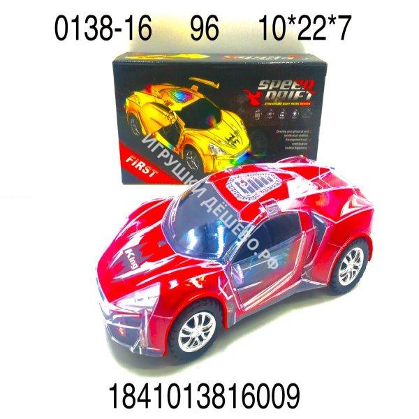 0138-16 Машинка (свет, звук), 96 шт. в кор. 0138-16