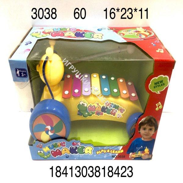 3038 Музыкальная игрушка Ксилофон 3+, 60 шт. в кор. 3038