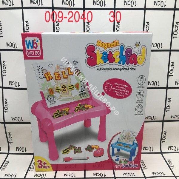 009-2040 Игровой набор (стол, доска для рисования) 30 шт в кор. 009-2040