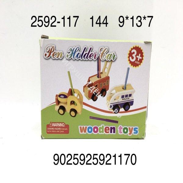 2592-117 Деревянная игрушка Машинка, 144 шт. в кор. 2592-117