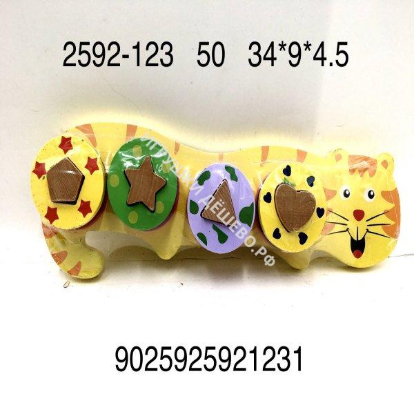 2592-123 Деревянная игрушка Сортер кошка, 50 шт. в кор. 2592-123