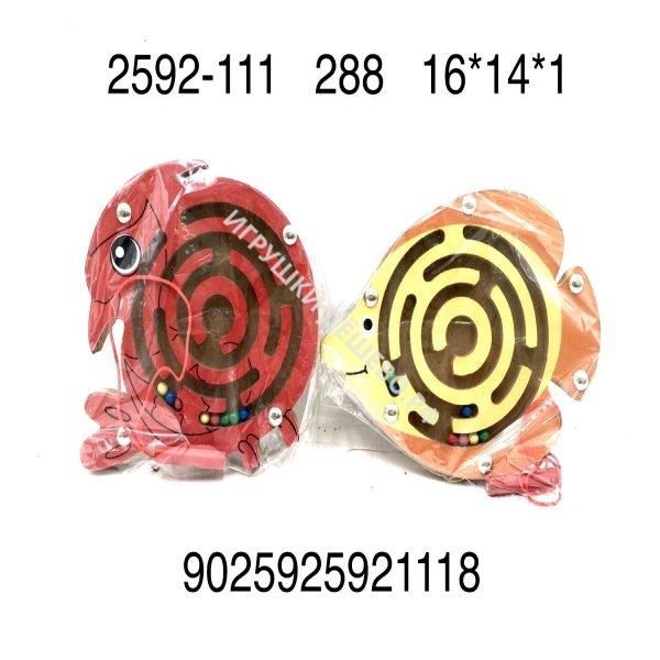 2952-111 Деревянная игрушка Лабиринт животные, 288 шт. в кор. 2952-111